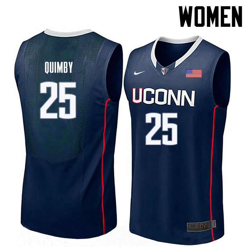 Women Uconn Huskies #25 Art Quimby College Basketball Jerseys-Navy
